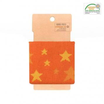 Bord-côte orange à étoiles jaunes