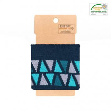 Bord-côte bleu à triangles bleus