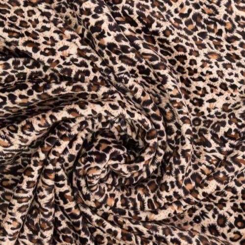 Velours ras imprimé léopard