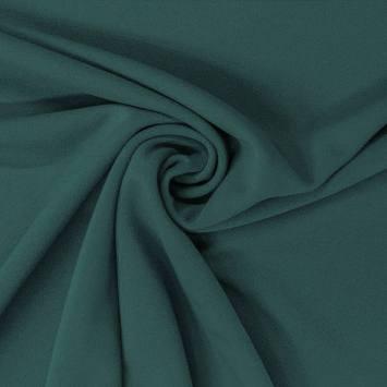 Tissu scuba crêpe uni vert canard