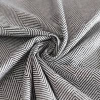 Maille grise lurex chevrons