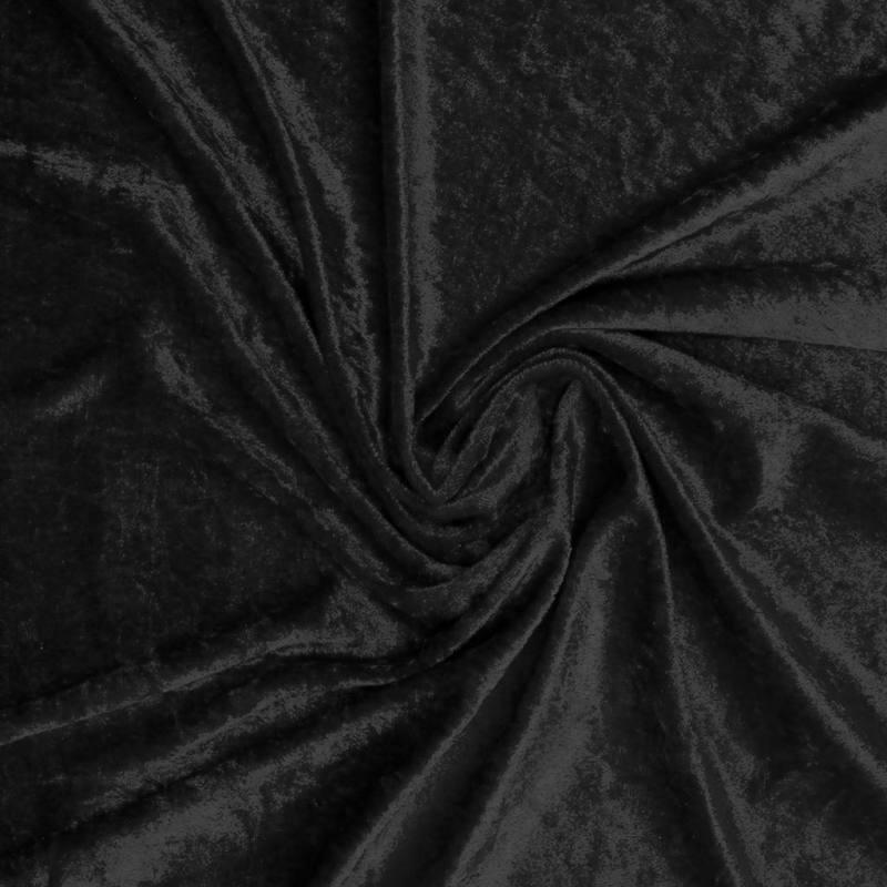 Velours extensible soyeux noir