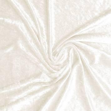 Velours extensible soyeux blanc cassé