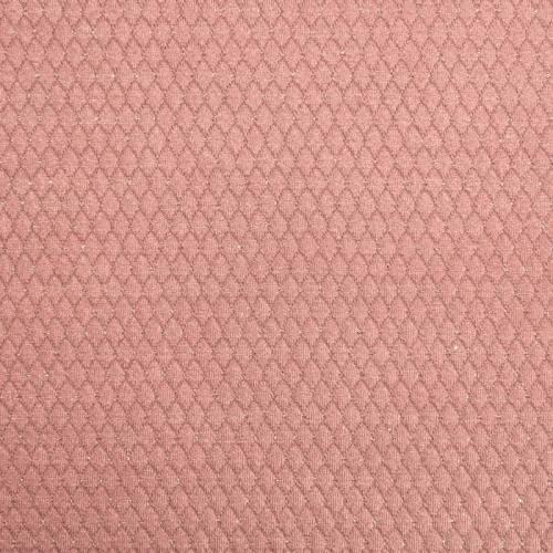 Maille gaufrée vieux rose paillettes argent