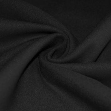 Tissu lainage uni noir