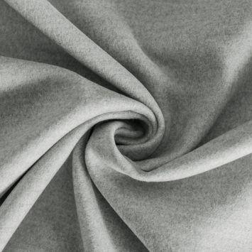 Tissu lainage uni gris