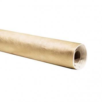 Rouleau 10m simili cuir extensible perforé doré