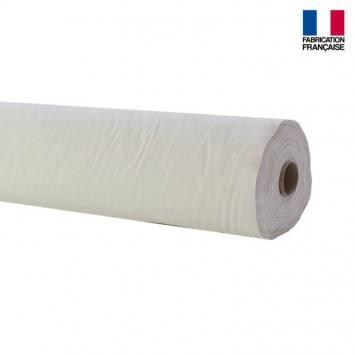 Rouleau 20m Toile coton ignifugée M1 blanc