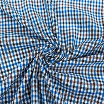 Tissu carreaux irréguliers bleus