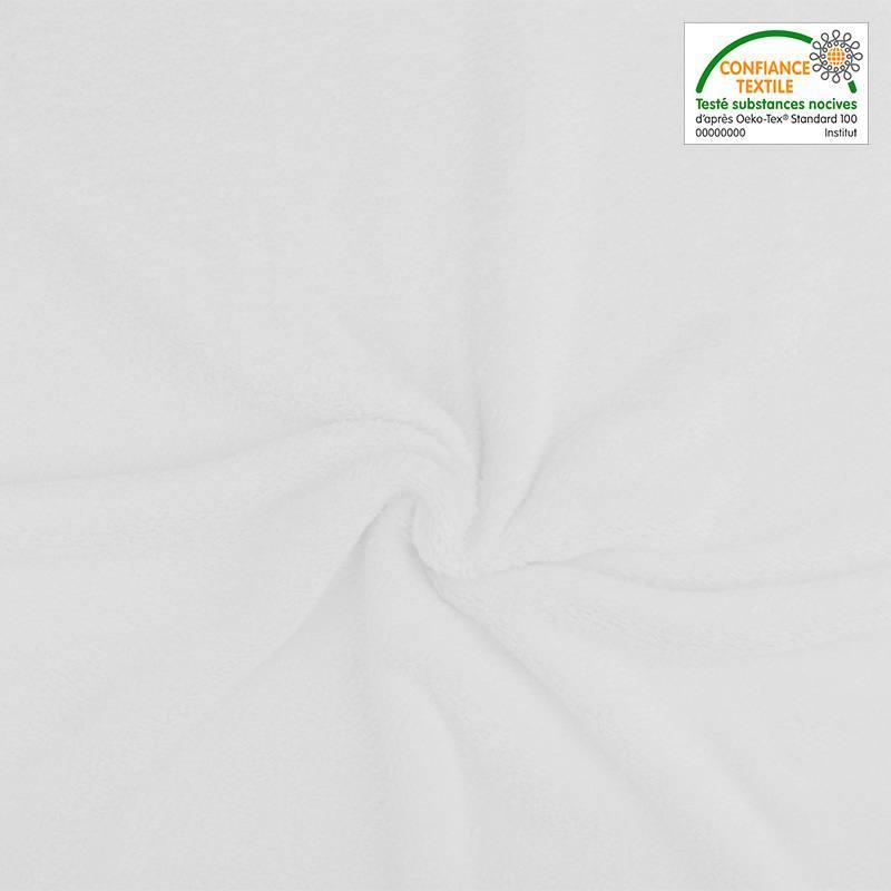 Polaire soyeuse unie blanche