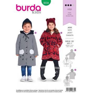 Patron Burda 9334 : Veste Taille 92-122 cm