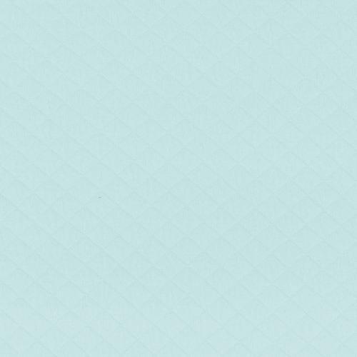 Jersey matelassé bleu pastel