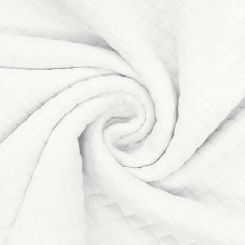Jersey matelassé blanc cassé
