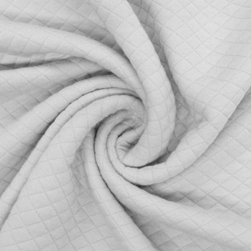 Tissu molleton matelassé gris clair