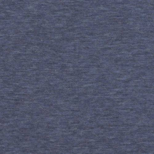 Jersey matelassé bleu jean