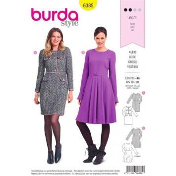 Patron Burda 6385 : Robe Taille 36-46