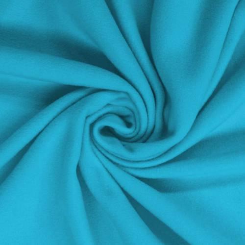 Polaire unie bleu turquoise