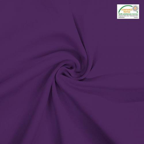 Rouleau 27m burlington infroissable Oeko-tex aubergine