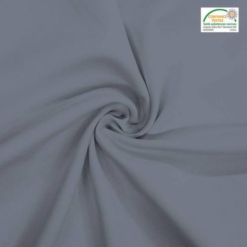 Rouleau 27m burlington infroissable Oeko-tex gris clair