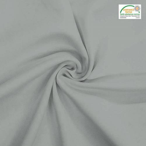 Rouleau 29m burlington infroissable Oeko-tex gris perle