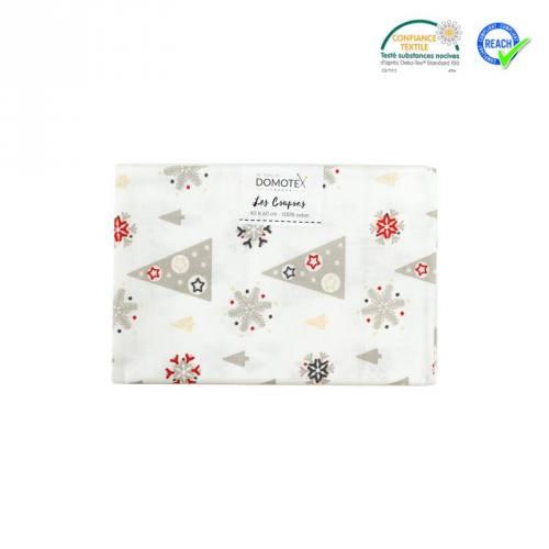 Coupon 40x60 cm coton blanc sapin adelgran