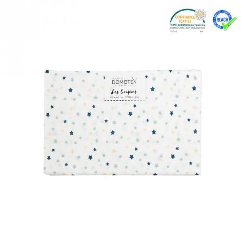 Coupon 40x60 cm coton blanc étoiles freez