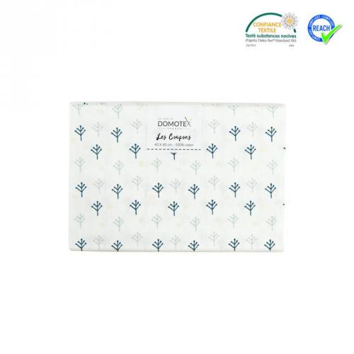 Coupon 40x60 cm coton blanc nomar