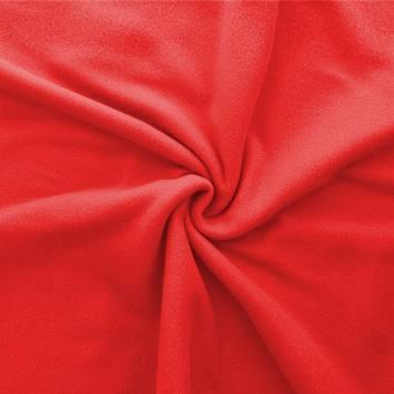 Polaire mate unie rouge coquelicot