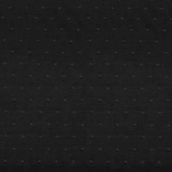 Voile de coton plumetis noir uni