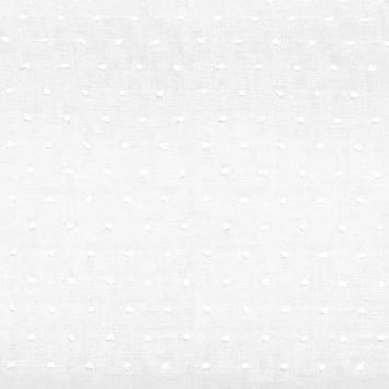 Voile de coton plumetis blanc uni