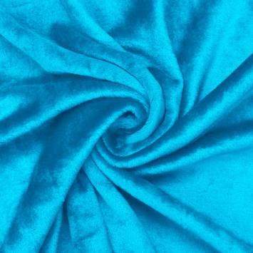 Polaire soyeuse unie bleu azur