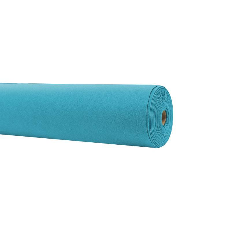 Rouleau 15m feutrine bleue turquoise 91cm