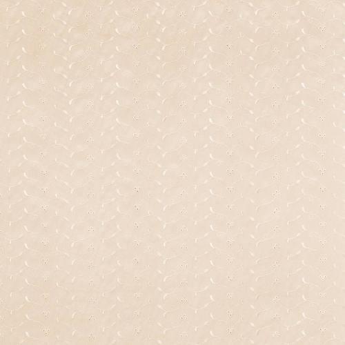 Rouleau 13m broderie anglaise crème motif floral scintillant