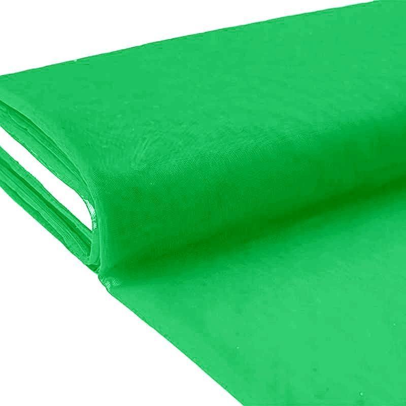 Plaquette 25m Tulle déco vert grande largeur
