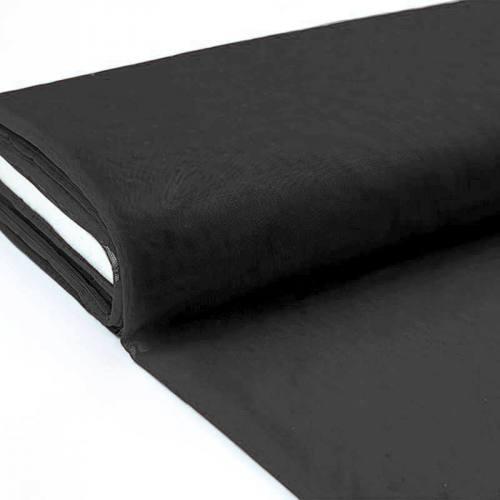 Plaquette 25m Tulle déco noir grande largeur