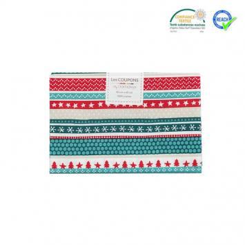 Coupon 40x60 cm coton Noël vert imprimé nilsia