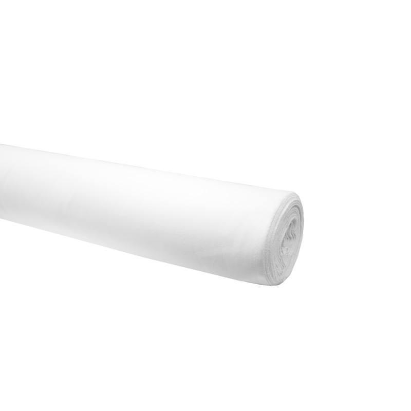 Rouleau 25m toile polycoton blanche grande largeur