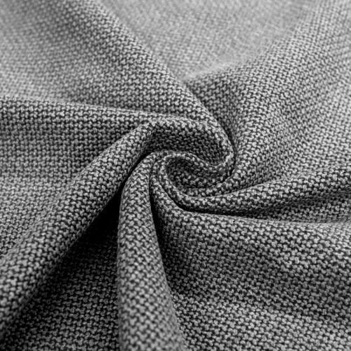 Jacquard noir tissé gris foncé