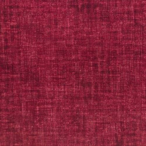 Velours ras rouge aspect lin