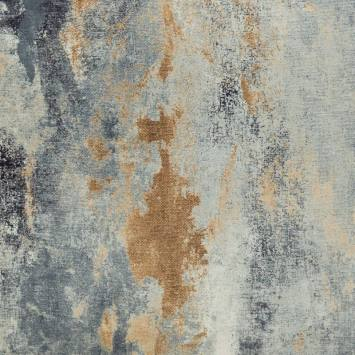 Velours ras nuances de bleu gris et bronze