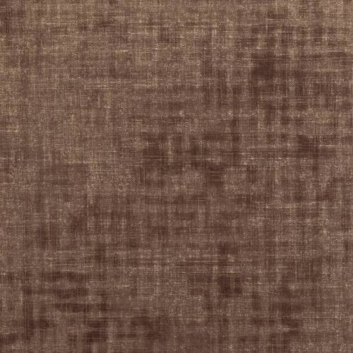 Velours ras marron aspect lin
