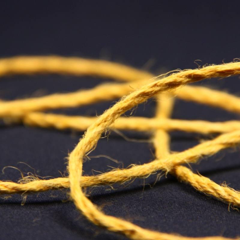 Cordelière jute 3 mm jaune