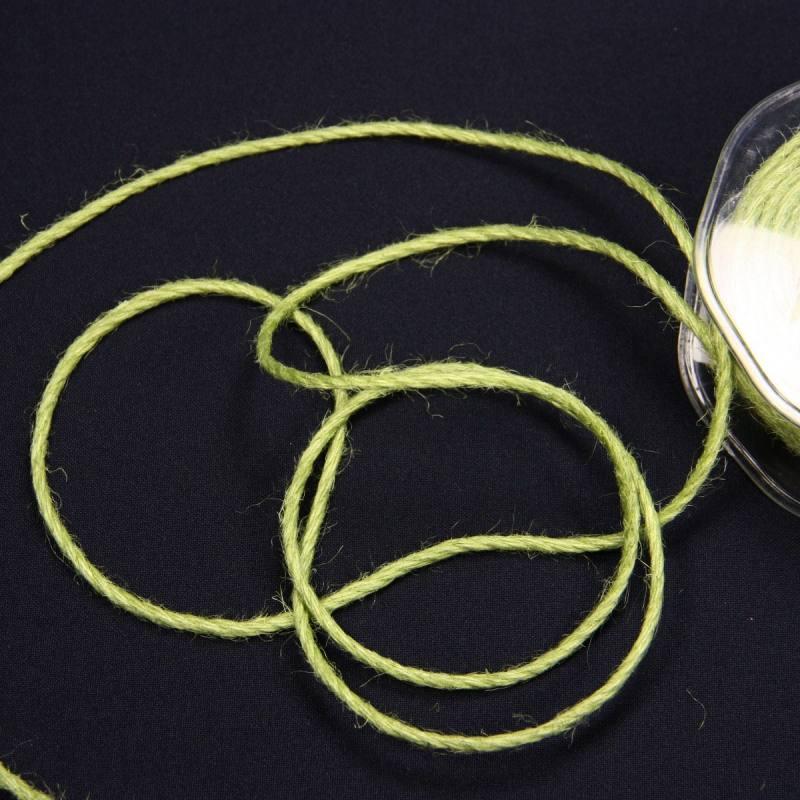Cordelière jute 3 mm vert