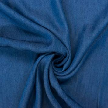 Tissu jean lyocell bleu foncé