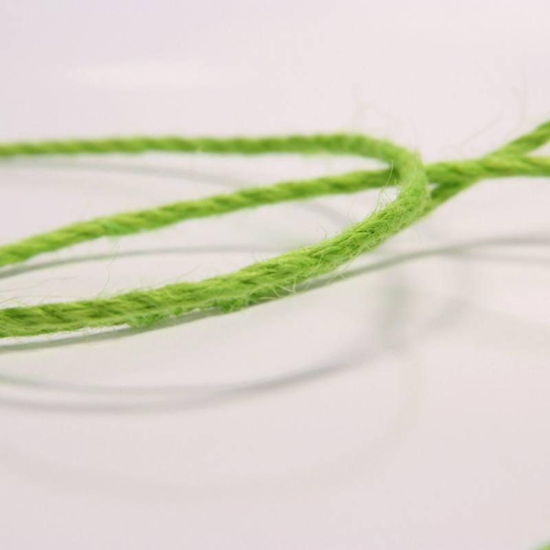 Cordelière jute 3 mm vert pomme