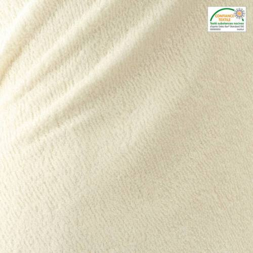 Tissu éponge bambou écru