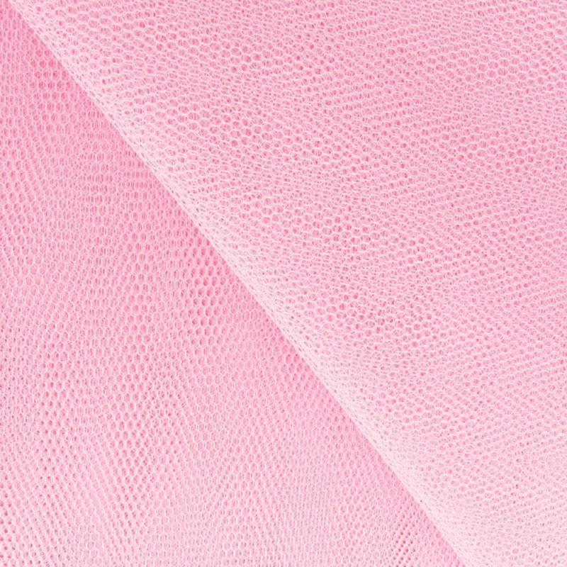 Tulle rose clair pour robe de mariée grande largeur