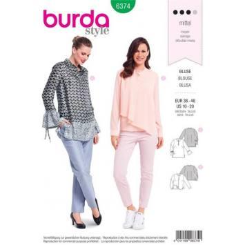 Patron Burda 6374 : Blouse Taille 36-46