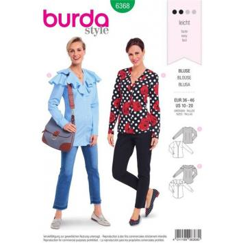 Patron Burda 6368 : Blouse Taille : 36-46