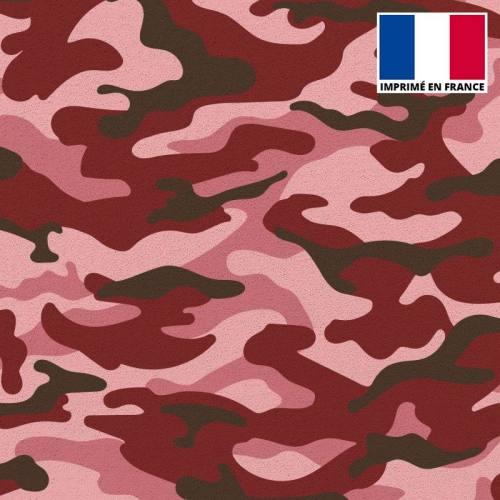 Tissu scuba imprimé militaire rouge